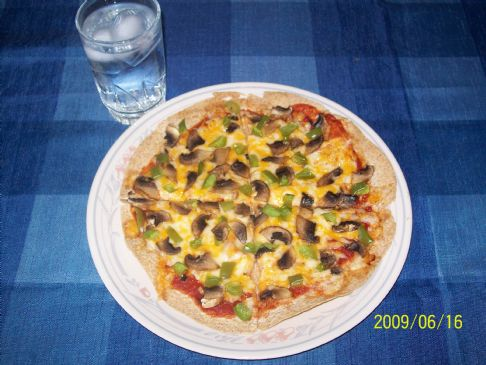 Vegetarian Tortilla Pizza
