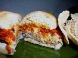 Sun Dried Tomato Pesto & Mozzarella Turkey Burgers