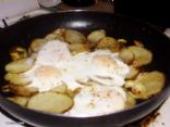 Potato, Onion & Egg Fry