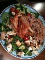 Korean Style Tuna & Spinach Salad