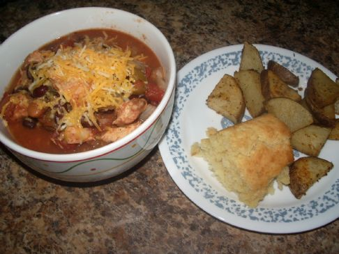 Chicken Chili - Slow Cooker/ Crock Pot