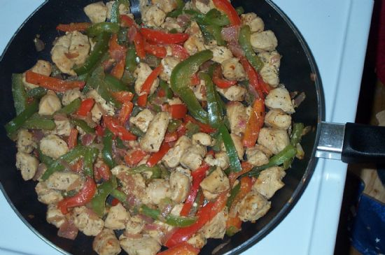 Spicy Lemon-Lime Chicken Fajita Filling