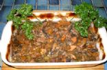 Kangaroo and Mushroom Casserole