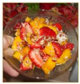 Summer Fresh Fruit Salad - Strawberry/Mango
