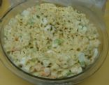 Macaroni with Shrimp Salad