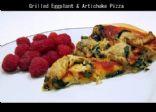 Grilled Eggplant & Artichoke Pizza