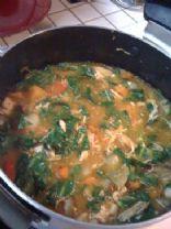 Roasted Butternut Squash & Kale Soup