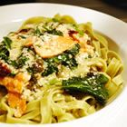 Salmon and Spinach Shirataki Fettuccine