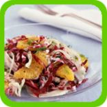 Healthy Fennel, orange and red cabbage salad