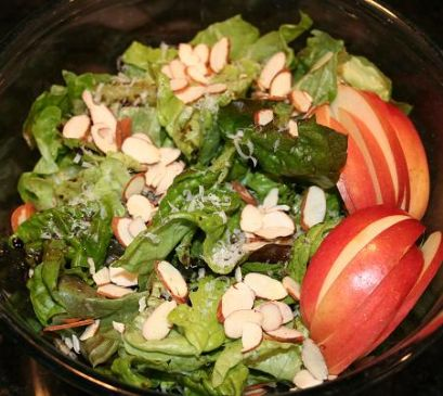 Image of Andi's Simple Balsamic Salad With Almonds And Apples, Spark Recipes