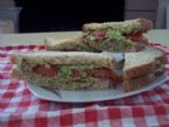 Bright Green Goddess Veggie Sandwich