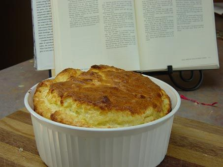 Pear Blue Cheese Souffle