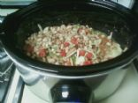 Pinto-White Bean Chili with Green Peppers