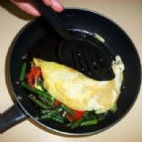 Gorgonzola Omelet with Grilled Vegetables