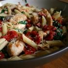 Spinach, Bacon, and Sun Dried Tomato Penne Pasta