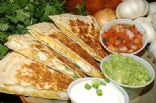 Chicken Quesadilla served with Taco Salad