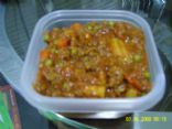 Homemade tomato and meat sauce