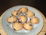 Whole Grain & Honey Blueberry Muffins