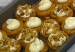 Pumpkin Cupcakes with Cream Cheese Icing & Toasted Walnuts