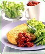 baked chicken with sun-dried tomato sauce