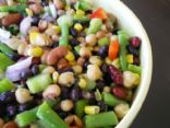 Sweet & Tangy Bean Salad