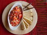 Roasted red peppers salad