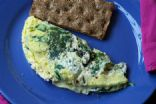 Spinach, Goat Cheese & Olive Omelet